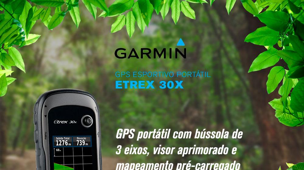 Gps Garmin Etrex 30x com Mapas Rodoviario e Topografico 010