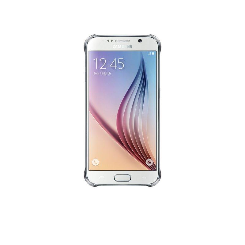 Capa Protetora Clear Galaxy S6 Edge EF - QG925 Protege contra Impactos Borda Prata EF - QG925BSEGBR