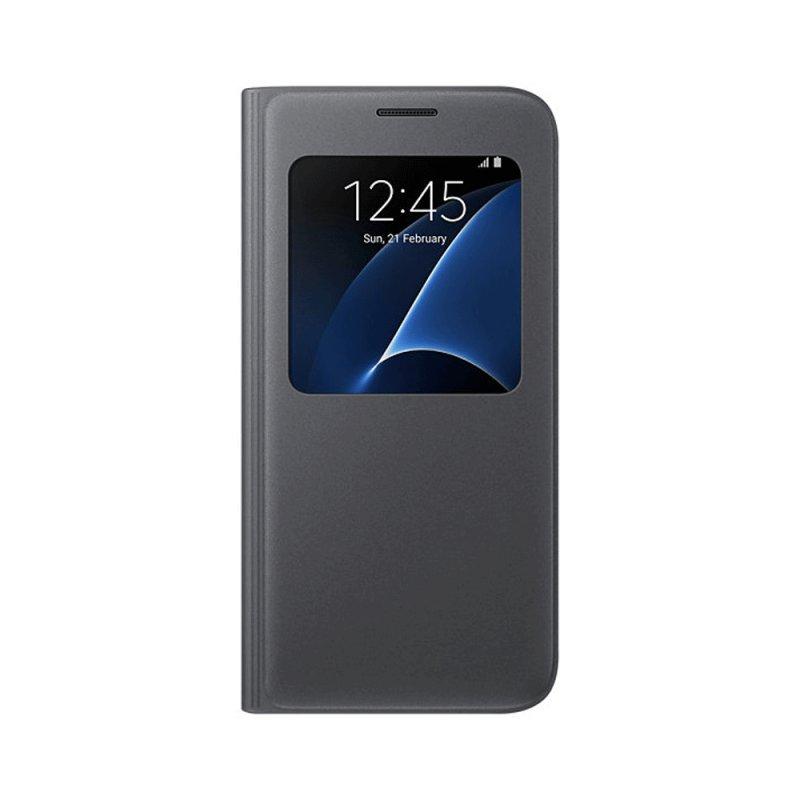 Capa Samsung S View Galaxy S7 Preta