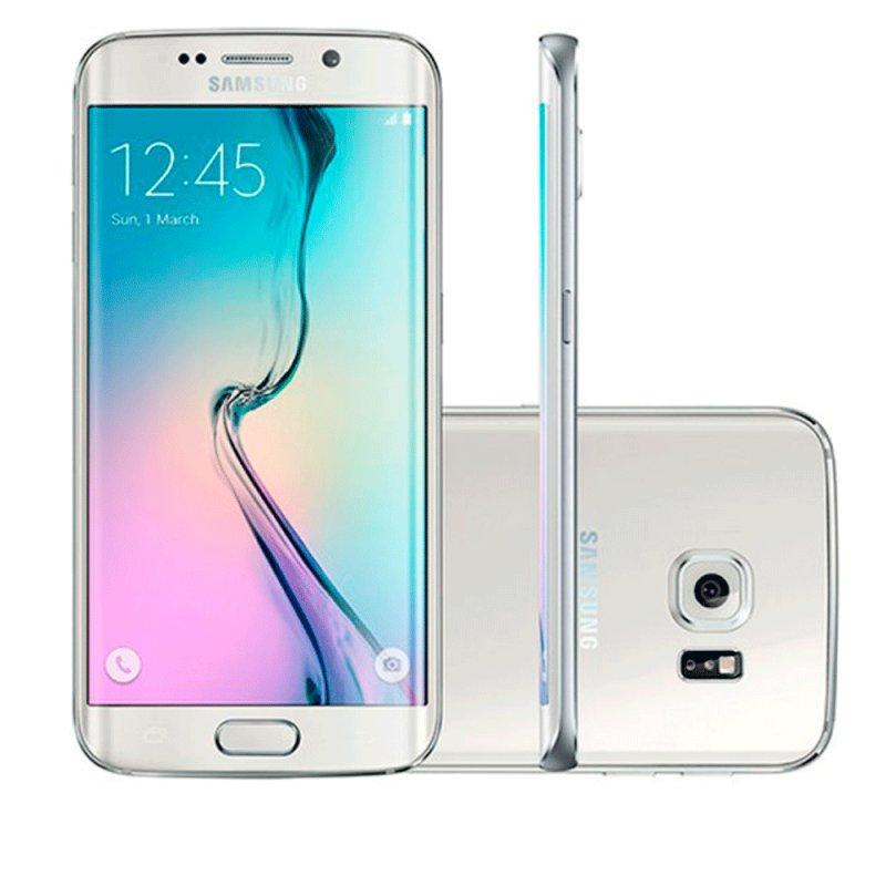 Smartphone Samsung Galaxy S6 Edge 32GB Android 5.0 4G Super Amoled 5,1 ´ Wi Fi 16MP Branco / Desbloqueado SM - G925I 32GB B