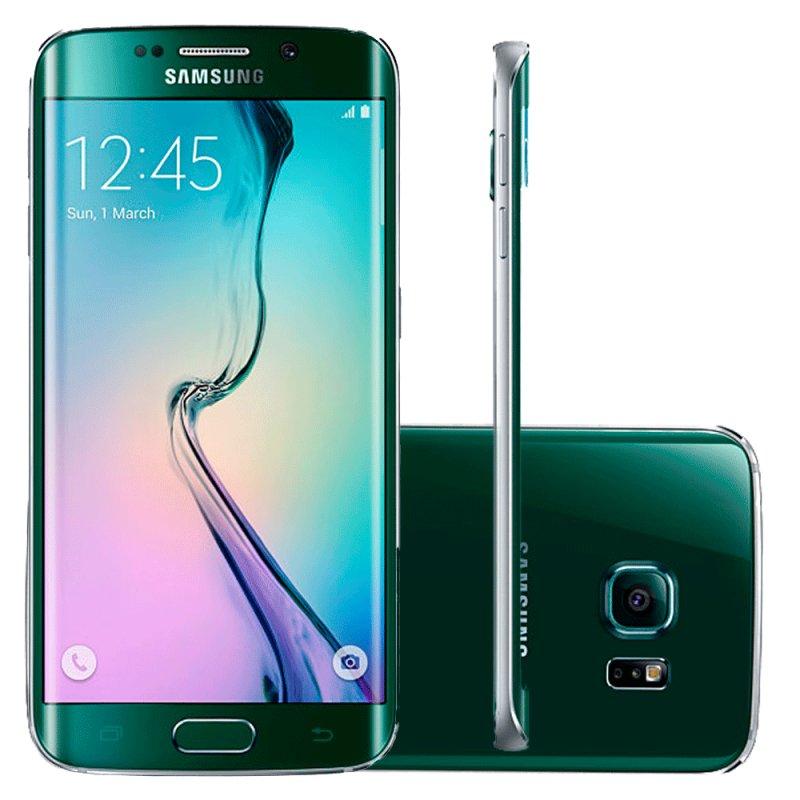 Smartphone Samsung Galaxy S6 Edge 32GB Android 5.0 4G Super Amoled 5,1 ´ Wi Fi 16MP Verde / Desbloqueado SM - G925I 32GB V
