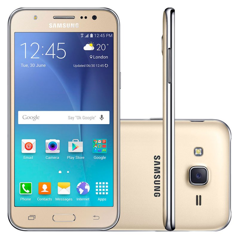 Smartphone Samsung Galaxy J5 Duos Dourado 5 ´ 4G 13MP QuadCore 16GB com Flash Frontal