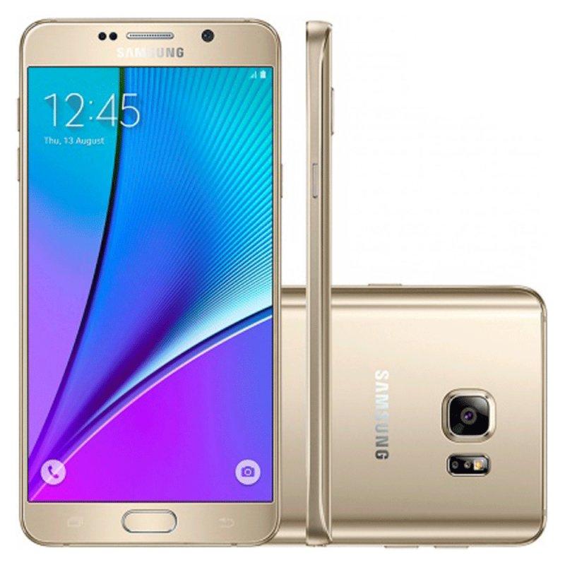 Smartphone Samsung Galaxy Note 5 Android 5.1 32GB 16MP 5.7 4G Dourado / Desbloqueado SM - N920GZDAZTO