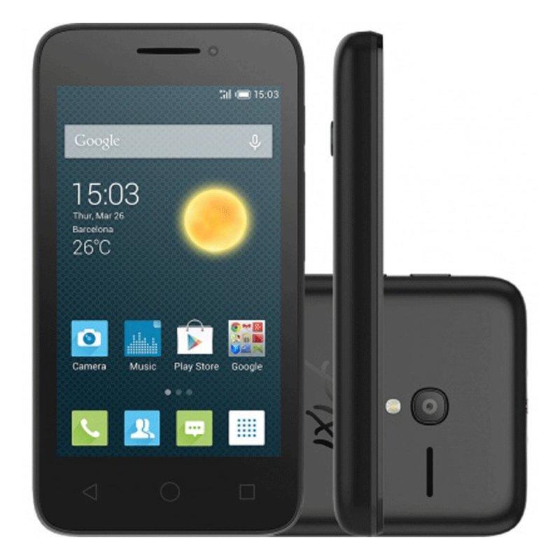 Smartphone Alcatel One Touch PIXI 3 Dual Chip 4GB tela 4 Preto / Desbloqueado Pixi3 Preto