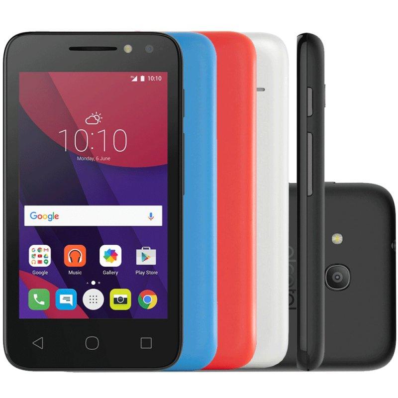 Smartphone Alcatel Pixi4 Colors 8GB 3G 4 ´ Dual Chip Android 6.0 8MP Quad Core 1.3Ghz com 4 Capas