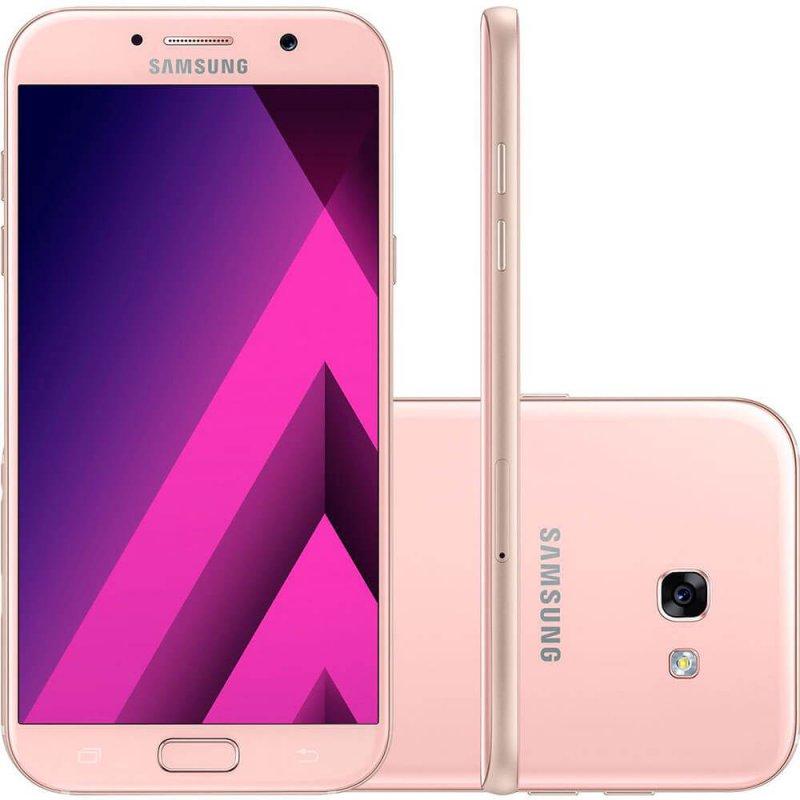 Smartphone Samsung Galaxy A7 Rosa 5,7 ´ 32GB Dual Chip Câmera Frontal 16MP e 3GB de RAM