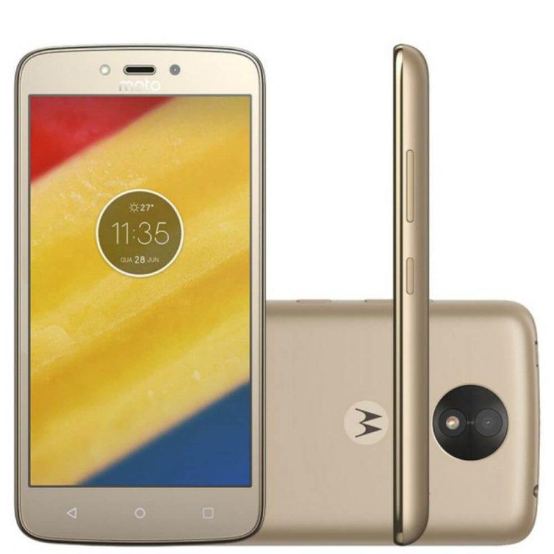 Smartphone Motorola Moto C Plus 8GB Ouro com 4G, Dual - Chip