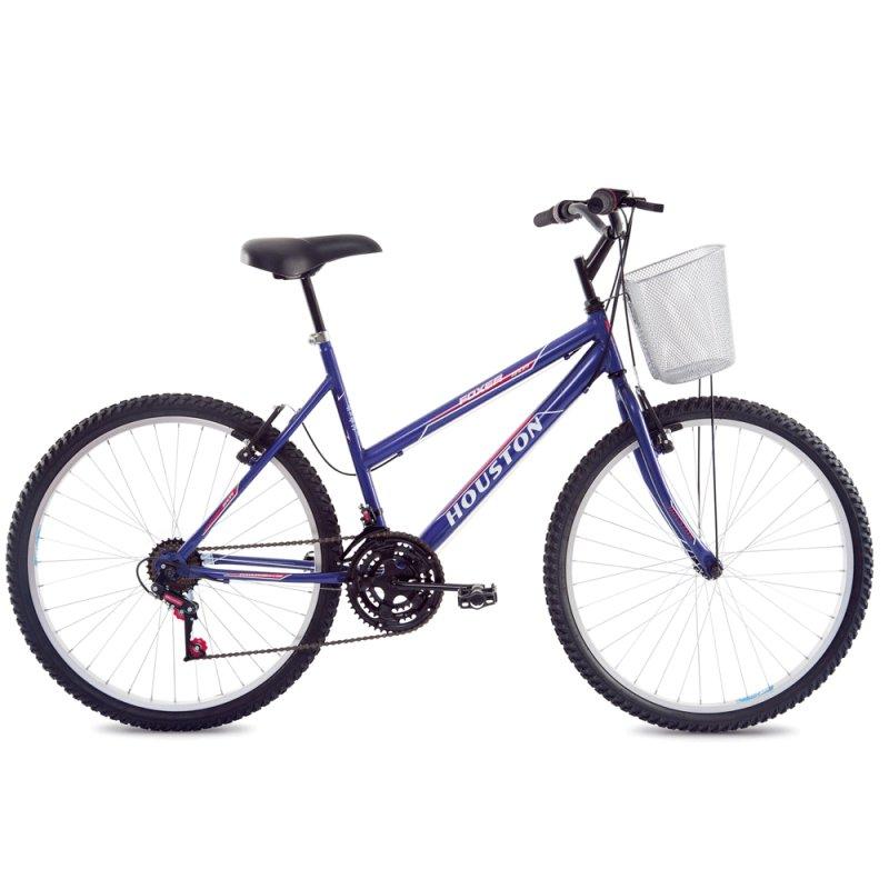 Bicicleta de Passeio Feminina Houston Maori FX26M3N Aro 26 Alumínio Violeta FX26M3N