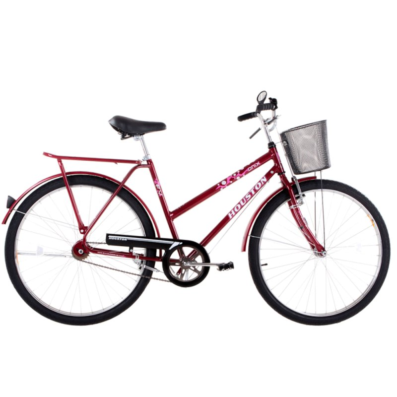 Bicicleta Houston ON26F1M Linha Transport Onix FV Aro 26 Vermelha ON26F1M