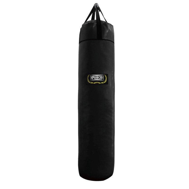 Saco de pancada Punch 160 cm em Lona Dupla face com EVA interno 800 Preto