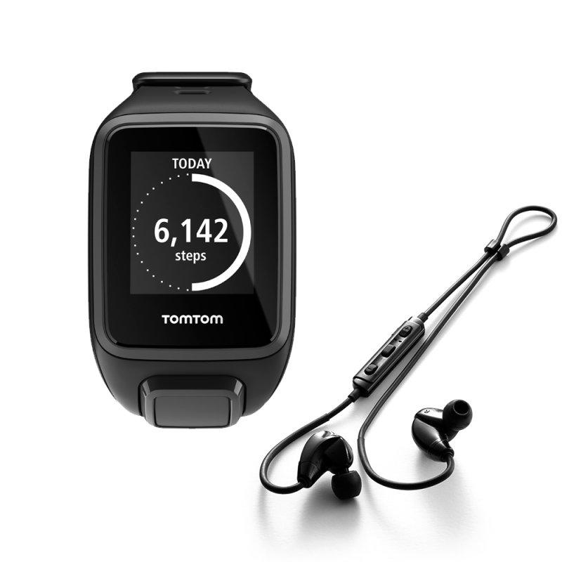 Relógio TomTom Spark Music Preto Tamanho L com GPS 3GB e Fones Bluetooth