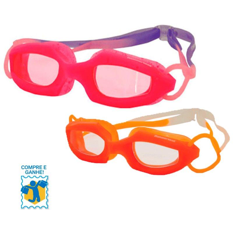 Promoção Compre e Ganhe Óculos de Natação Infantil Hammerhead Morango / Laranja e Chaveiro FRUIT BASKE C#994737