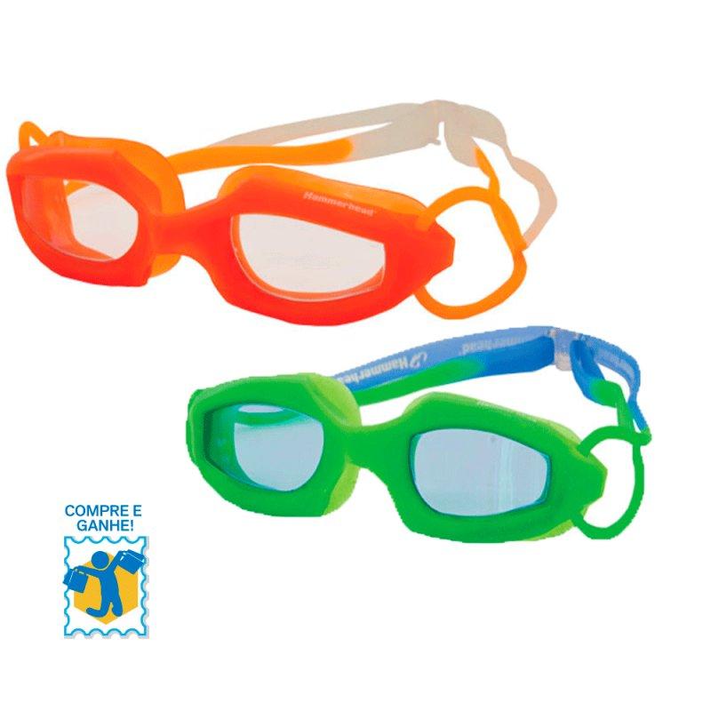 Promoção Compre e Ganhe Óculos de Natação Infantil Hammerhead Laranja / Maça Verde e Chaveiro FRUIT BASKE C#821672