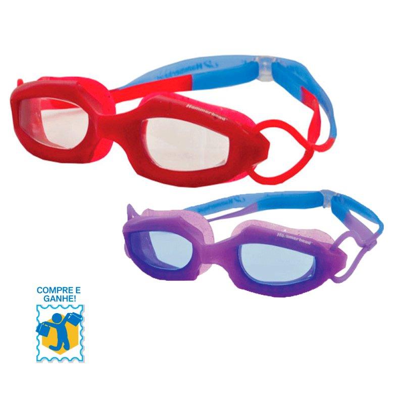 Promoção Compre e Ganhe Óculos de Natação Infantil HammerHead Cereja / Uva e Chaveiro FRUIT BASKE C#948172