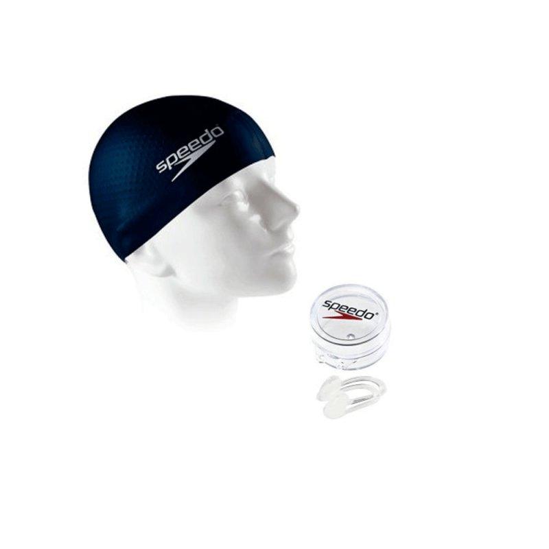 Touca de Natação Massage Cap Speedo com Protetor Nasal e Chaveiro 527687 Mari C#266849