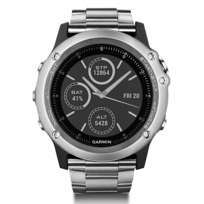 Relógio Esportivo Garmin Fenix 3 Safira Titânio com Pulseira em Metal
